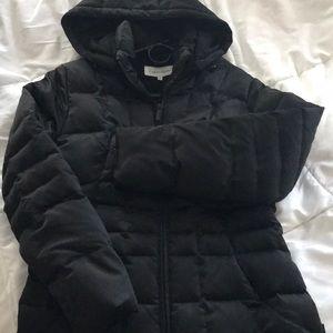 calvin klein puffy blk jacket